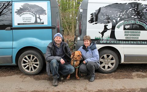 Charlie and Tracey with dog